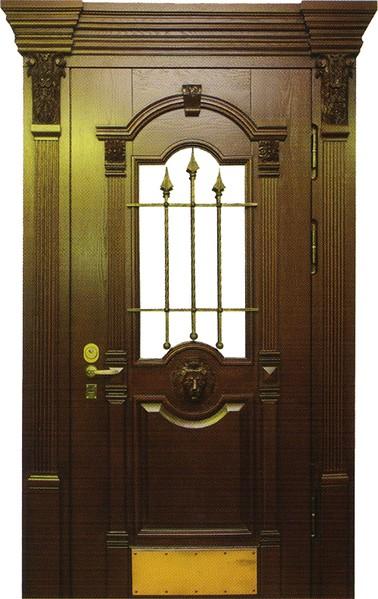 элитные металлические двери с массивом